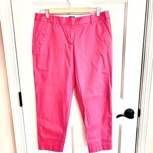 Preppy hot pink JCrew City Fit capris pants